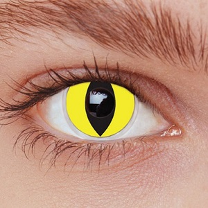 Карнавальные линзы - Кошачьи желтые