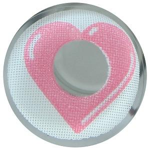 Карнавальные линзы - Розовое сердце