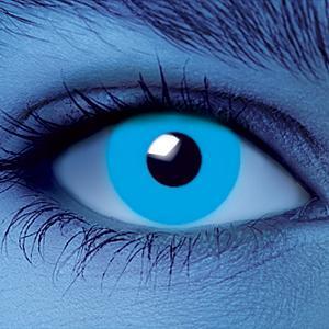 Светящиеся линзы - Голубые